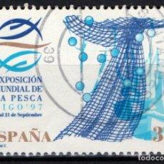 Sellos: ESPAÑA 3504 - AÑO 1997 - EXPOSICION MUNDIAL DE LA PESCA. Lote 234140865