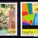 Sellos: ESPAÑA - 2004 EDIFIL Nº 4112/4113 - VINOS CON DENOMINACIÓN DE ORIGEN. Lote 160645306