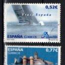 Sellos: ESPAÑA 4092/94 - AÑO 2004 - EXPOSICION MUNDIAL DE FILATELIA - VALENCIA - BARCO BRAVO ESPAÑA. Lote 160683070