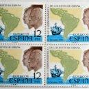 Sellos: ESPAÑA. 2370 VIAJE A HISPOAMÉRICA DE LOS REYES DE ESPAÑA. 1976. BLOQUE DE CUATRO. SELLOS NUEVOS Y NU. Lote 160747302