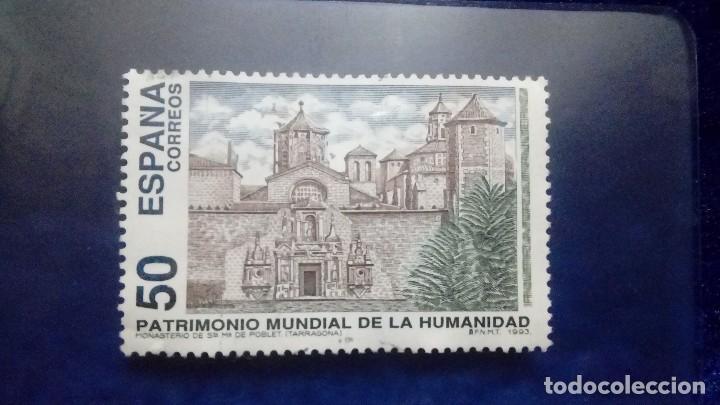 ESPAÑA - 1993, ST MARIA DE POBLET . 50 PTS - USADO. (Sellos - España - Juan Carlos I - Desde 1.986 a 1.999 - Usados)