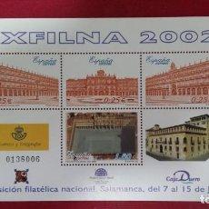 Sellos: + SERIE Nº SH 3906** (HOJA BLOQUE) EXPOSICIÓN FILATÉLICA NACIONAL (EXFILNA 2002) - LEER DESCRIPCIÓN. Lote 160771798