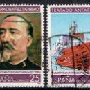 Sellos: ESPAÑA 3150/51 - AÑO 1992 - CIENCIA Y TECNICA - GENERAL CARLOS IBAÑEZ - TRATADO ANTARTICO - BARCOS. Lote 160883310