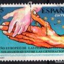 Sellos: ESPAÑA 3272 - AÑO 1993 - AÑO EUROPEO DE LAS PERSONAS MAYORES Y SOLIDARIDAD ENTRE GENERACIONES. Lote 160883950