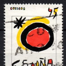 Sellos: ESPAÑA 3091 - AÑO 1990 - AÑO EUROPEO DEL TURISMO - OBRA DE JOAN MIRO. Lote 222247802