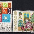 Sellos: ESPAÑA 3036/37 - AÑO 1989 - NAVIDAD - JUEGOS INFANTILES. Lote 164869454