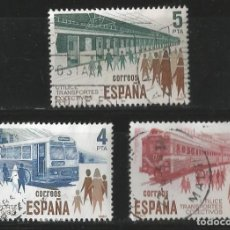 Sellos: ESPAÑA 1980 - TRANSPORTE COLECTIVO - SERIE - EDIFIL 2560-2561-2562. Lote 161826186