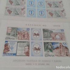 Sellos: SELLO ESPAÑA HOJA BLOQUE EDIFIL Nº 2583 ( ESPAMER 80 ) NUEVOS 1980 . Lote 162310250
