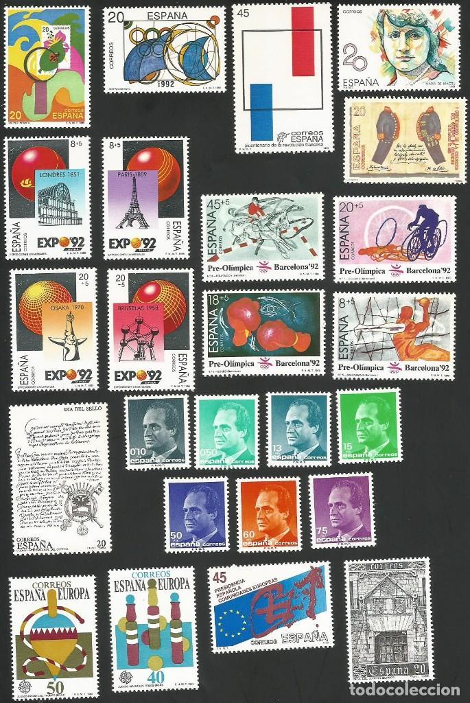 ESPAÑA 1989 - AÑO COMPLETO NUEVOS (Sellos - España - Juan Carlos I - Desde 1.986 a 1.999 - Nuevos)