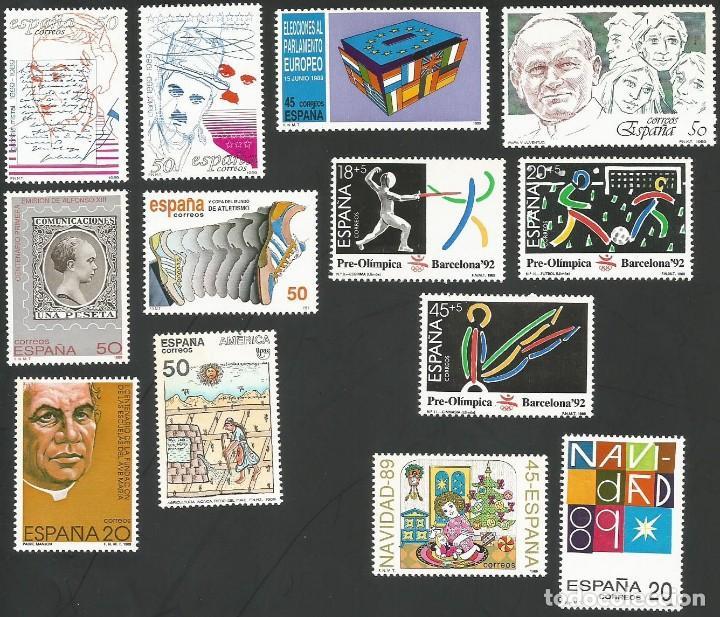 Sellos: ESPAÑA 1989 - AÑO COMPLETO NUEVOS - Foto 2 - 162924982