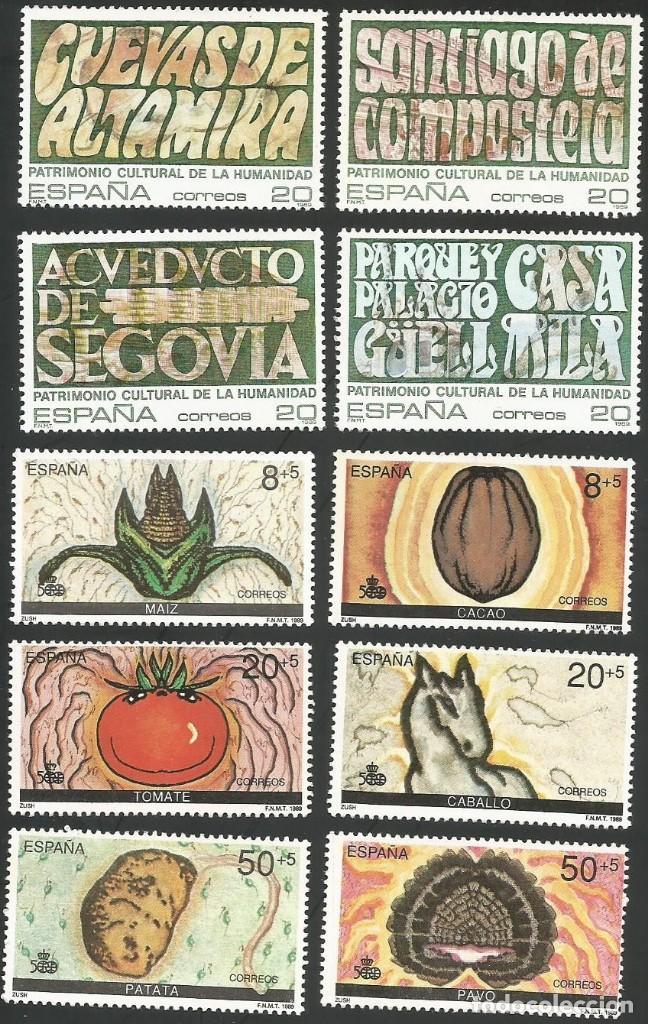 Sellos: ESPAÑA 1989 - AÑO COMPLETO NUEVOS - Foto 4 - 162924982