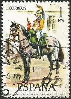Sellos: ESPAÑA 1976 - ES 2350 A 2354 - UNIFORMES MILITARES (VI) - SERIE USADA - Foto 2 - 162956366