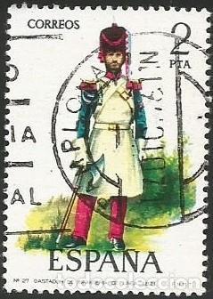 Sellos: ESPAÑA 1976 - ES 2350 A 2354 - UNIFORMES MILITARES (VI) - SERIE USADA - Foto 3 - 162956366
