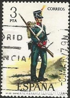 Sellos: ESPAÑA 1976 - ES 2350 A 2354 - UNIFORMES MILITARES (VI) - SERIE USADA - Foto 4 - 162956366