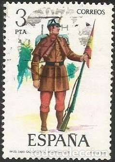 Sellos: ESPAÑA 1977 - ES 2381 A 2385 - UNIFORMES MILITARES (VII) - SERIE USADA - Foto 4 - 162957862
