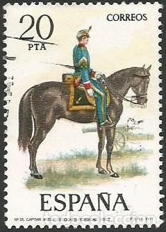 Sellos: ESPAÑA 1977 - ES 2381 A 2385 - UNIFORMES MILITARES (VII) - SERIE USADA - Foto 6 - 162957862