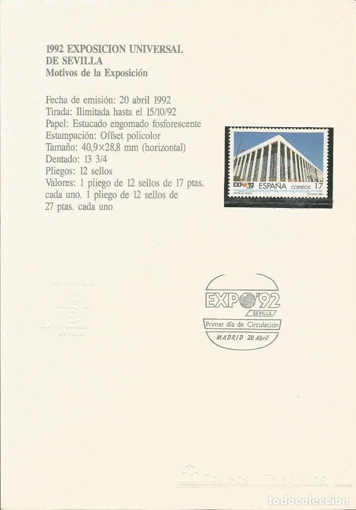 ESPAÑA 1992 - ES 3171 - SELLO NUEVO DE LA EXPO 92 MONTADO EN TARJETA - CURIOSO (Sellos - España - Juan Carlos I - Desde 1.986 a 1.999 - Nuevos)