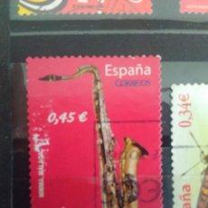 Sellos: EDIFIL 4550 - SAXOFÓN TENOR DE LA SERIE: INSTRUMENTOS MUSICALES. AÑO 2010. Lote 163012130