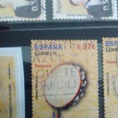 Sellos: EDIFIL 4782 PANDERETA DE LA SERIE: INSTRUMENTOS MUSICALES. AÑO 2013. Lote 163024638