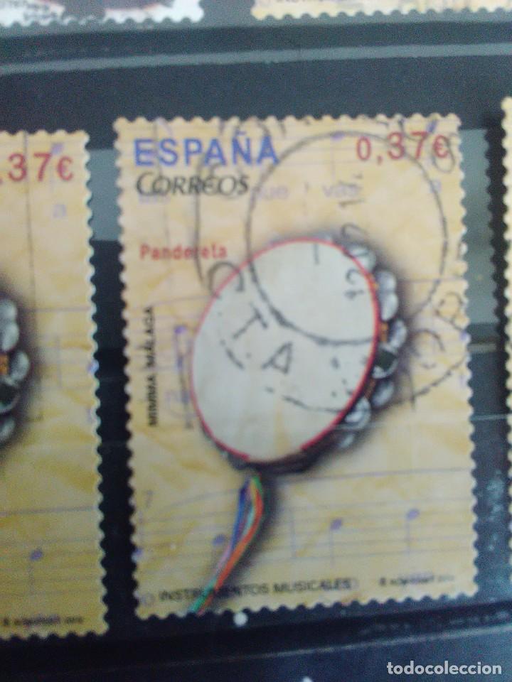 EDIFIL 4782 PANDERETA DE LA SERIE: INSTRUMENTOS MUSICALES. AÑO 2013 (Sellos - España - Juan Carlos I - Desde 2.000 - Usados)