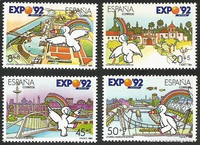 ESPAÑA 1990 - ES 3050 A ES 3053 - EXPO SEVILLA 92 - SERIE NUEVA (Sellos - España - Juan Carlos I - Desde 1.986 a 1.999 - Nuevos)