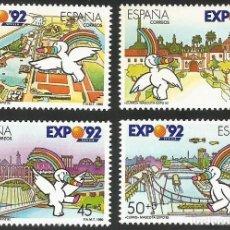 Sellos: ESPAÑA 1990 - ES 3050 A ES 3053 - EXPO SEVILLA 92 - SERIE NUEVA. Lote 163190434