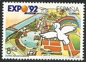 Sellos: ESPAÑA 1990 - ES 3050 A ES 3053 - EXPO SEVILLA 92 - SERIE NUEVA - Foto 2 - 163190434