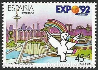Sellos: ESPAÑA 1990 - ES 3050 A ES 3053 - EXPO SEVILLA 92 - SERIE NUEVA - Foto 4 - 163190434