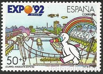 Sellos: ESPAÑA 1990 - ES 3050 A ES 3053 - EXPO SEVILLA 92 - SERIE NUEVA - Foto 5 - 163190434