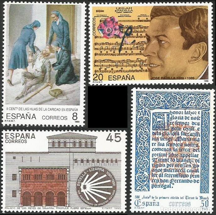 ESPAÑA 1990 - ES 3069 A ES 3072 - CENTENARIOS - SERIE NUEVA (Sellos - España - Juan Carlos I - Desde 1.986 a 1.999 - Nuevos)