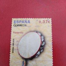 Sellos: SELLO INSTRUMENTOS MUSICALES PANDERETA ESPAÑA. Lote 163510210