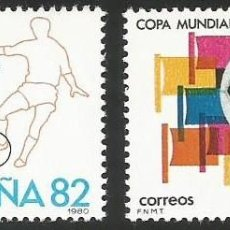 Sellos: ESPAÑA 1980 - ES 2570 Y 2571 - MUNDIAL 82 - 2 SELLOS NUEVOS. Lote 163855674