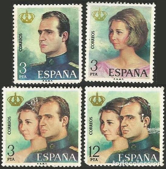ESPAÑA 1975 - ES 2302 A 2305 - PRIMEROS SELLOS DE JUAN CARLOS I - 4 SELLOS (Sellos - España - Juan Carlos I - Desde 1.975 a 1.985 - Usados)
