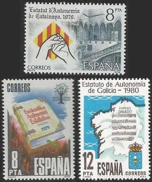 ESPAÑA 1979 A 1984 - ESTATUTOS DE AUTONOMIA - 17 SELLOS NUEVOS (Sellos - España - Juan Carlos I - Desde 1.975 a 1.985 - Nuevos)