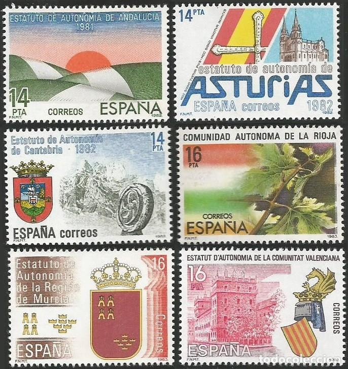 Sellos: ESPAÑA 1979 A 1984 - ESTATUTOS DE AUTONOMIA - 17 SELLOS NUEVOS - Foto 3 - 163972306