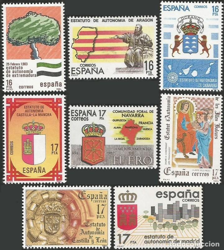 Sellos: ESPAÑA 1979 A 1984 - ESTATUTOS DE AUTONOMIA - 17 SELLOS NUEVOS - Foto 4 - 163972306