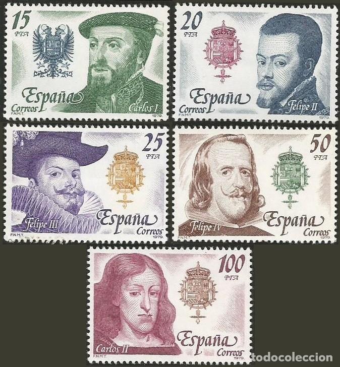 ESPAÑA 1979 - ES 2552 A 2556 - REYES CASA DE AUSTRIA - SERIE DE 5 SELLOS NUEVOS (Sellos - España - Juan Carlos I - Desde 1.975 a 1.985 - Nuevos)