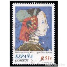 Sellos: ESPAÑA 2012. EDIFIL SH 4739A 4739 A. PERFIL CON FONDO AZUL. MANOLO VALDES. USADO. Lote 164487586