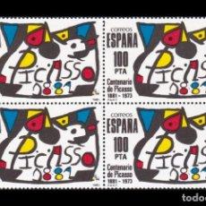 Sellos: CENTENARIO DE PICASSO 1881-1973 BLOQUE DE 4 EDIFIL 2609 NUEVOS. Lote 164736166