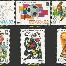 Sellos: ESPAÑA 1980 A 1982 - MUNDIAL DE FUTBOL ESPAÑA 82 - 3 SERIES - 6 SELLOS NUEVOS. Lote 164747346