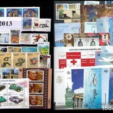 Sellos: ESPAÑA 2013 AÑO COMPLETO SELLOS Y HOJAS BLOQUE MNH**. Lote 209419318