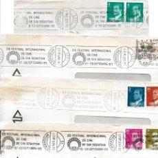 Sellos: LOTE 9 SOBRES CON FRANQUEOS CONMEMORATIVOS. Lote 165778350
