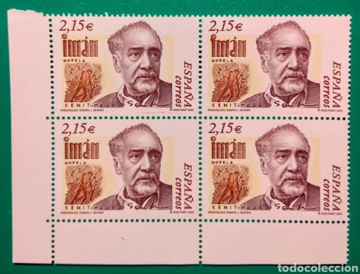 ESPAÑA 2003. BLOQUE DE 4. RAMÓN J. SENDER. (Sellos - España - Juan Carlos I - Desde 2.000 - Nuevos)