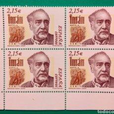 Sellos: ESPAÑA 2003. BLOQUE DE 4. RAMÓN J. SENDER.. Lote 165896738