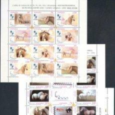 Sellos: ESPAÑA 1998/00 - 3 MINIPLIEGOS CABALLOS CARTUJANOS - MP.62-67-69 - MNH. Lote 166208758