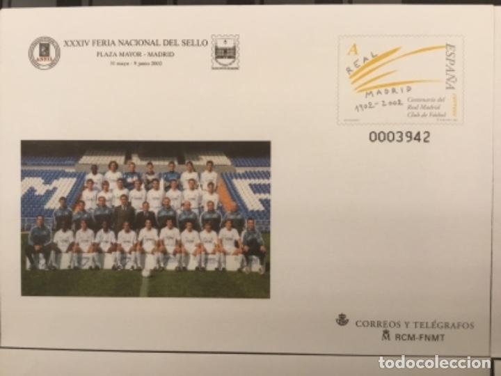 Sellos: 2002-ESPAÑA Sobres entero postales CENTENARIO REAL MADRID Ed.78 (a/d) VC:40 € - Foto 2 - 178156274