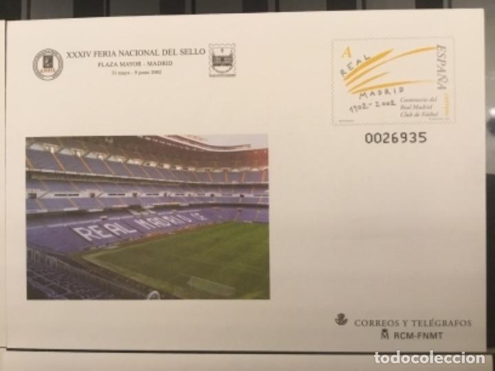 Sellos: 2002-ESPAÑA Sobres entero postales CENTENARIO REAL MADRID Ed.78 (a/d) VC:40 € - Foto 3 - 178156274