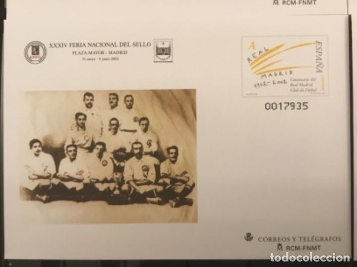 Sellos: 2002-ESPAÑA Sobres entero postales CENTENARIO REAL MADRID Ed.78 (a/d) VC:40 € - Foto 4 - 178156274