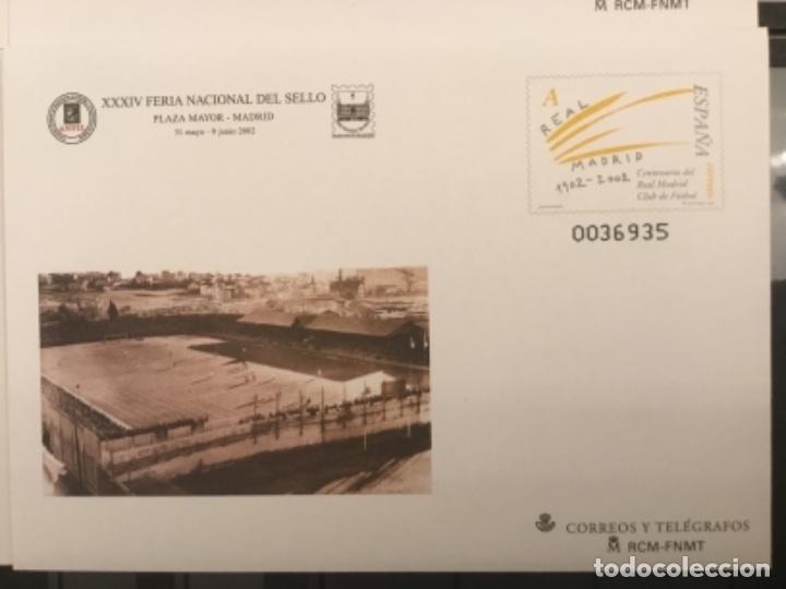 Sellos: 2002-ESPAÑA Sobres entero postales CENTENARIO REAL MADRID Ed.78 (a/d) VC:40 € - Foto 5 - 178156274