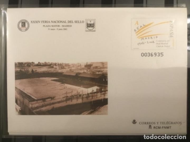 Sellos: 2002-ESPAÑA Sobres entero postales CENTENARIO REAL MADRID Ed.78 (a/d) VC:40 € - Foto 6 - 178156274